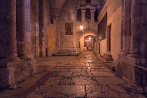 Галерея внутри Храма Гроба Господня. Храм Анастасис или Храм Гроба Господня