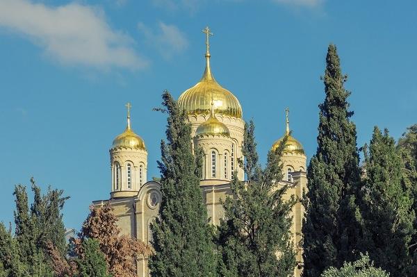 Вид на Горненский Монастырь. Православный Иерусалим: Елеон и пригороды